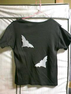 ガイコツTシャツ 裏