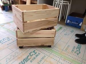 2段重ね木製ラック