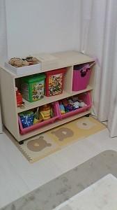 玩具整理棚 完成